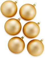 Bloomingdale's Gold Glass Ball Ornaments, Set of 6 - 100% Exclusive