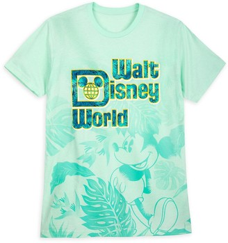 Disney Mickey Mouse Tropical T-Shirt for Adults Walt World Aqua
