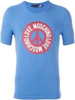 Love Moschino Peace & logo print T-shirt - men - Cotton/Spandex/Elastane - M