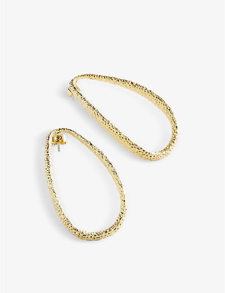 Ted Baker Moondust gold-toned brass earrings