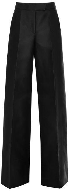 Antonio Berardi Wide-Leg Silk Pants Black