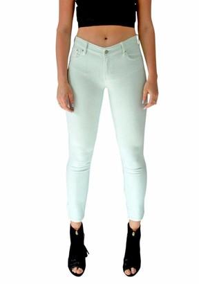 Ex Gap Gap Womens Coloured Slim Skinny Leg Ankle Grazer Jeans Pale Green Size 10