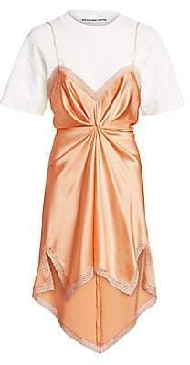 Alexander Wang Women's Cinched Slip T-Shirt Dress