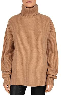The Kooples Smooth Mix Wool & Cashmere Turtleneck Sweater