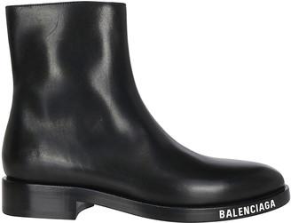 Balenciaga Logo Printed Ankle Boots