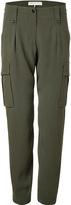 Emilio Pucci Olive Silk-Blend Cargo Pants