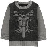 Gymboree Black Intarsia Knit Moto Sweater - Infant & Toddler