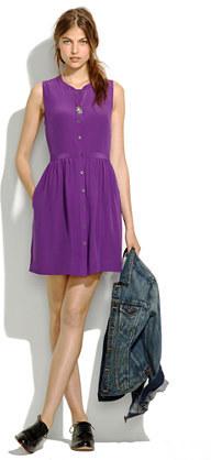 Madewell Sleeveless Silk Shirtdress