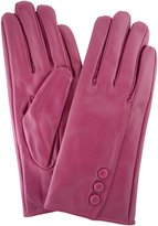 SNUGRUGS Ladies Butter Soft Leather Glove, 3 Buttons, Stitch Detail & Warm Fleece Lining