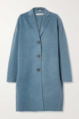 Acne Studios Oversized Melange Wool Coat - Blue