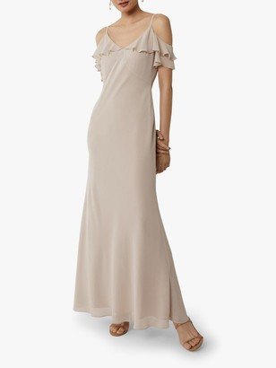 Warehouse Cold Shoulder Bridesmaid Dress, Mink