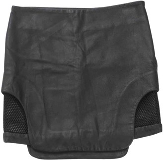 Jonathan Simkhai Black Leather Skirt for Women