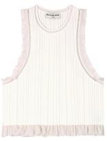 Balenciaga Ruffled knitted cropped top