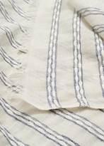 Violeta BY MANGO Stripe-Pattern Cotton Scarf