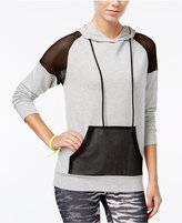 Material Girl Active Juniors' Mesh-Inset Hoodie, Only at Macy's