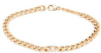 Zoë Chicco Floating Diamond & 14kt Gold Curb-chain Bracelet - Gold