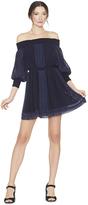 Alice + Olivia Pammy Embroidered Off The Shoulder Dress