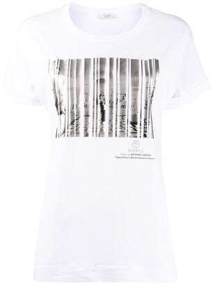 Peserico short-sleeved barcode print T-sirt