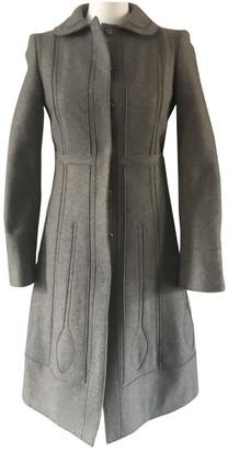Philosophy di Alberta Ferretti Green Wool Coat for Women