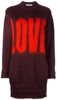 Givenchy love printed jumper - women - Polyamide/Mohair/Wool - XS