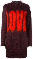 Givenchy love printed jumper