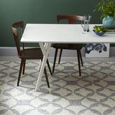 west elm Tile Wool Kilim Rug - Platinum