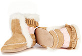 Robeez Baby Girls Fab Folk Soft Sole Faux-Fur Booties