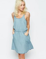 Only Denim Dress With Strappy Back