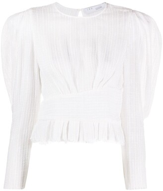 IRO Textured Puff Cropped Blouse