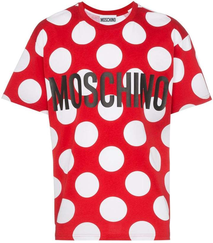 Moschino dot logo cotton T-shirt