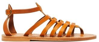 K. Jacques Darius Leather Sandals - Womens - Tan