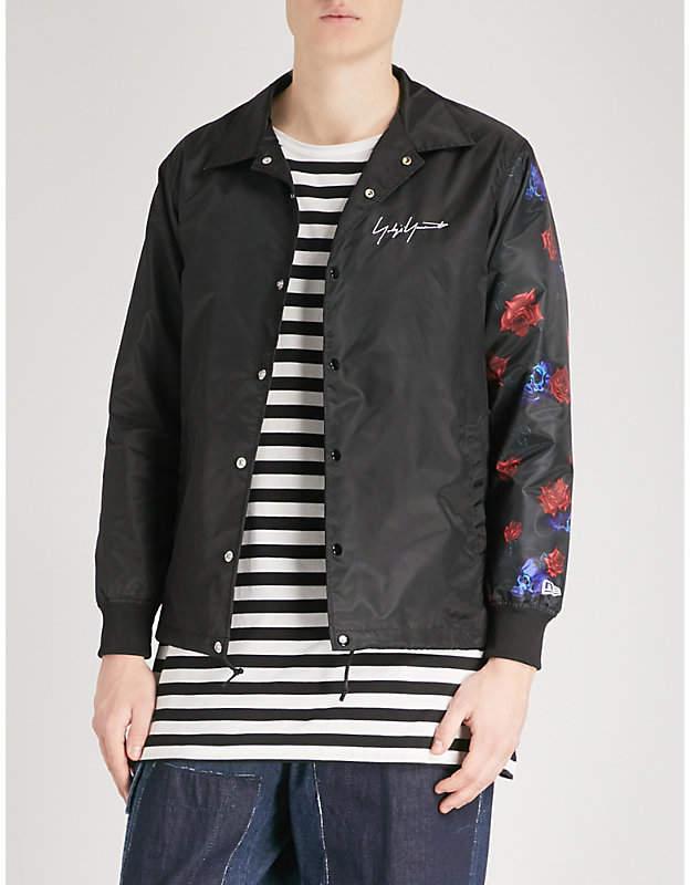 Yohji Yamamoto Rose-print shell jacket