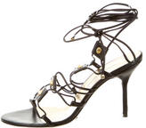 Dolce & Gabbana Lace-Up Leather Sandals