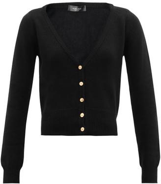 Versace V-neck Cashmere Cardigan - Black