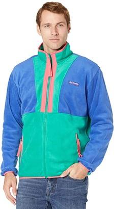 Columbia Back Bowl Full Zip Fleece (Lapis Blue/Emerald Green/Bright Geranium) Men's Clothing