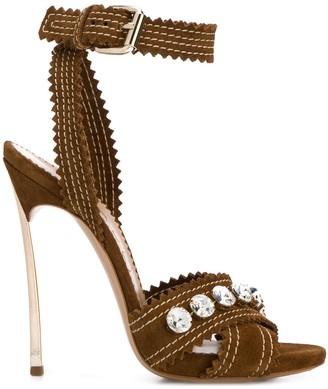 Casadei Crystal-Embellished 125mm Sandals