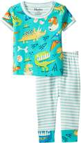 Hatley Dinosaur Land Short Sleeve Mini Pajama Set Boy's Pajama Sets
