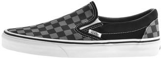 Vans Classic Slip On Checkboard Trainers Black