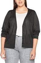 Ulla Popken Women's Strickcardigan mit Metalliceffekt Regular Fit Long Sleeve Cardigan,UK 24