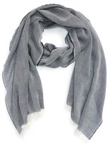 Burberry Men's Lightweight Chambray Wool & Cashmere Scarf