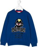 Fendi dj print sweatshirt
