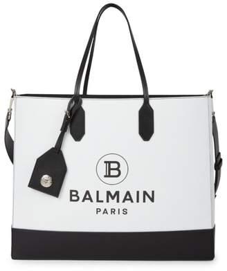 Balmain Medium Leather Shopping Bag