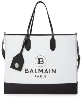 Balmain Medium Leather Tote
