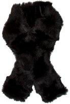 Adrienne Landau Black Fur Stole w/ Tags