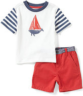 Nautica Baby Boys 12-24 Months Sailboat Graphic Short-Sleeve Tee & Shorts Set