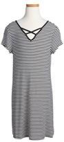 Love, Fire Girl's Love Fire Lattice Neck T-Shirt Dress