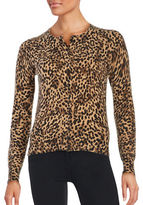 Lord & Taylor Petite Printed Cashmere Cardigan