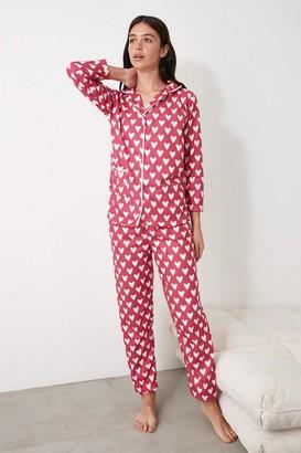 Trendyol Pink Heart Pyjamas
