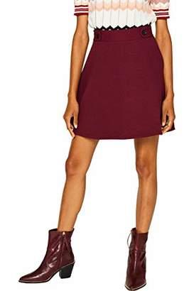 Esprit Women's 089ee1d004 Skirt, (Garnet Red 620), Large