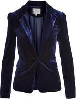 Lucy Paris Navy Velvet Classic Blazer